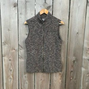 J. Jill Brown Speckled Sweater Vest